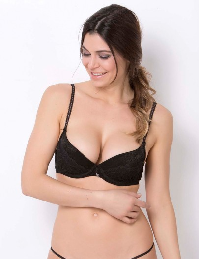 30613 SELMARK CLARISSE DEEP PLUNGE PUSH-UP BRA
