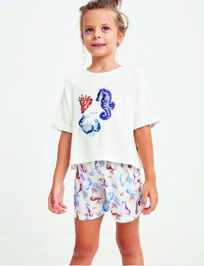 G104 Nautica Kız Çocuk Şort...