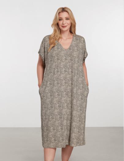 9085 Be Curvy Pijama Elbise